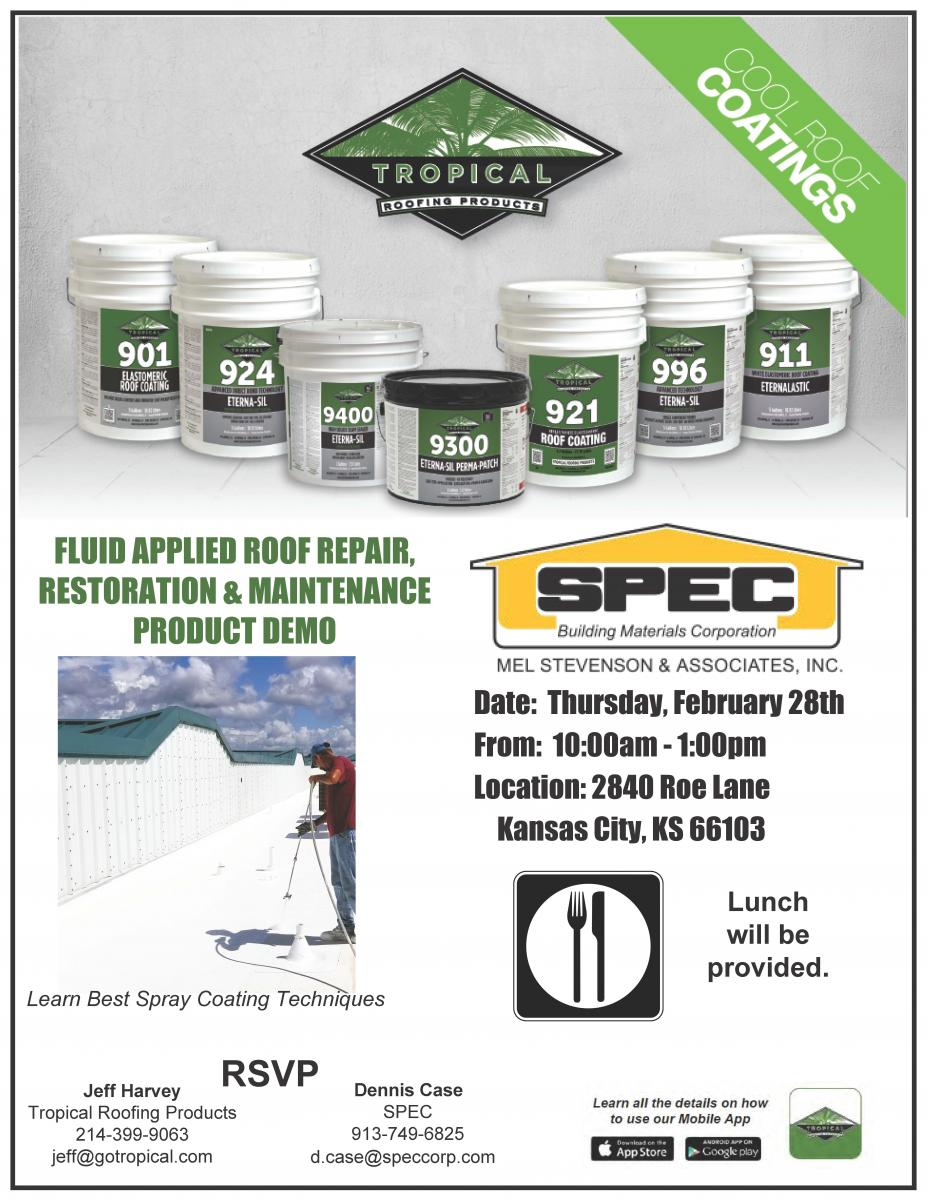 Tropical Roofing Products Demo Kansas City Spec
