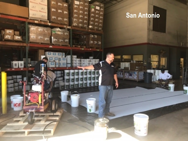 Tropical Roofing Products Amp Hennes Johnson Equipment Demo San Antonio Spec Building